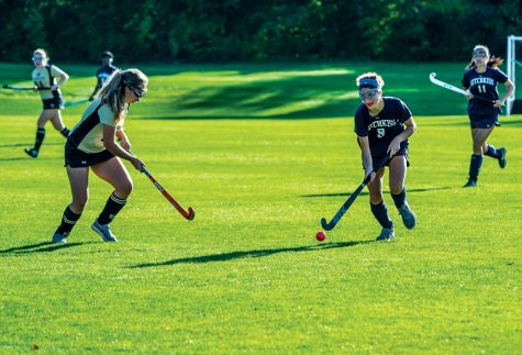 Isabella Giordano '20 handles the ball during a Field Hockey game last year.
