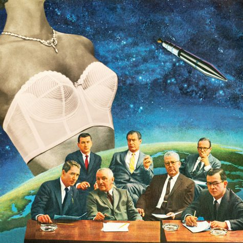 "Venus Rising, one collage from the series ""Fortune and the Feminine."""