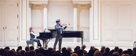 Shane Kim '20 performs