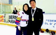 Kim '19 Plays for Korean Hockey Team