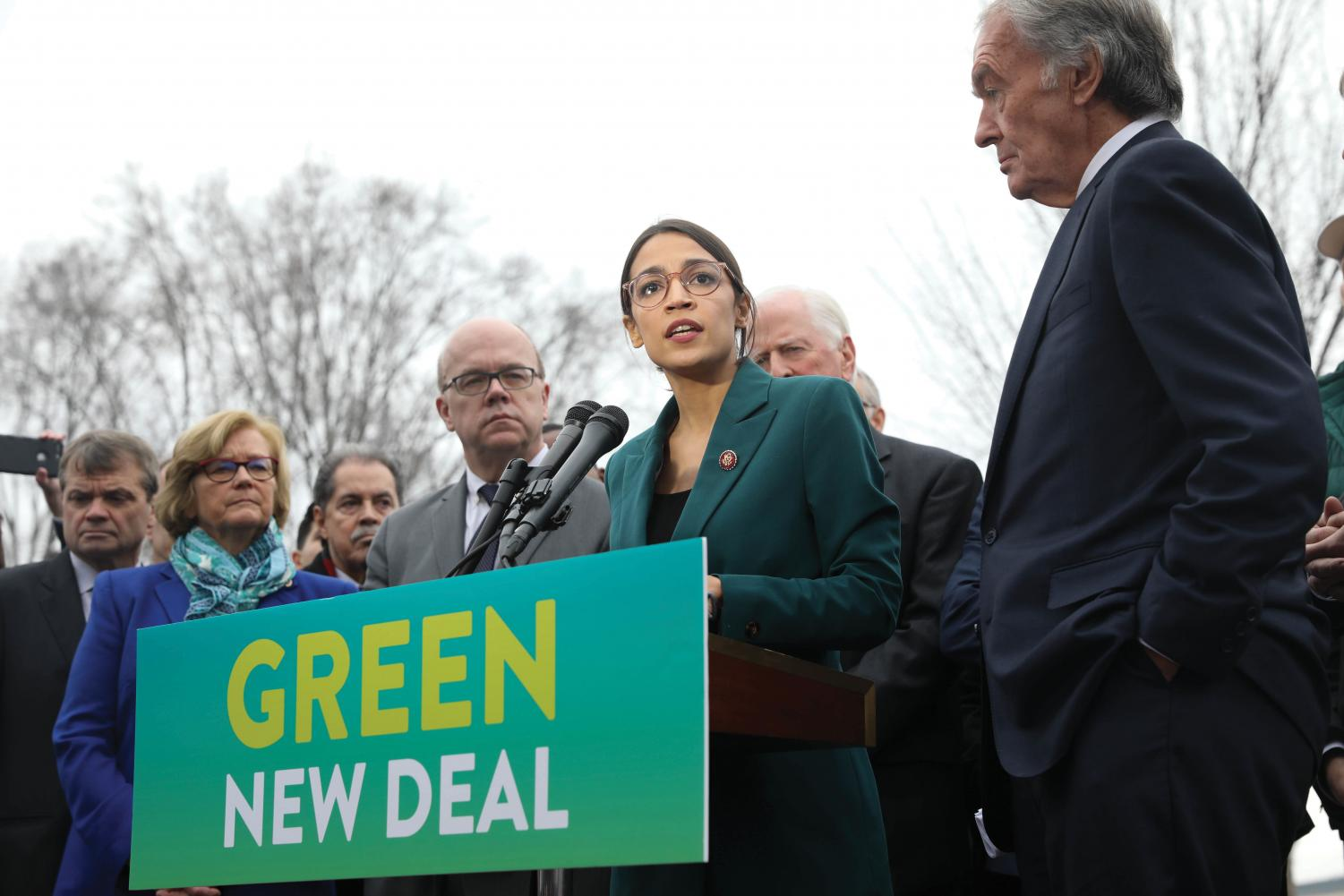 Sixty democrats support Ocasio-Cortez's Green New Deal.