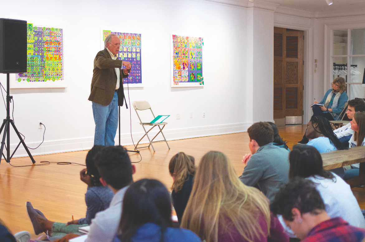 Mark Wilson encourages students to combine skills from other fields with art.