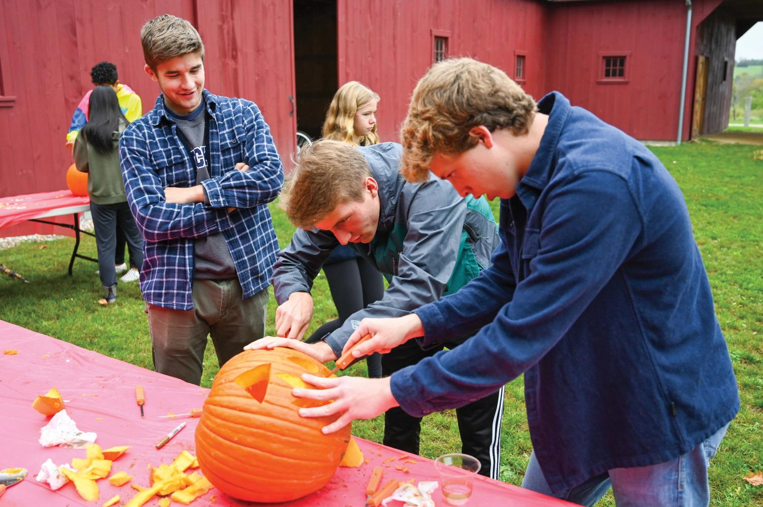 Students enjoyed a day full of activities at the Fall Festival, including pumpkin carving.