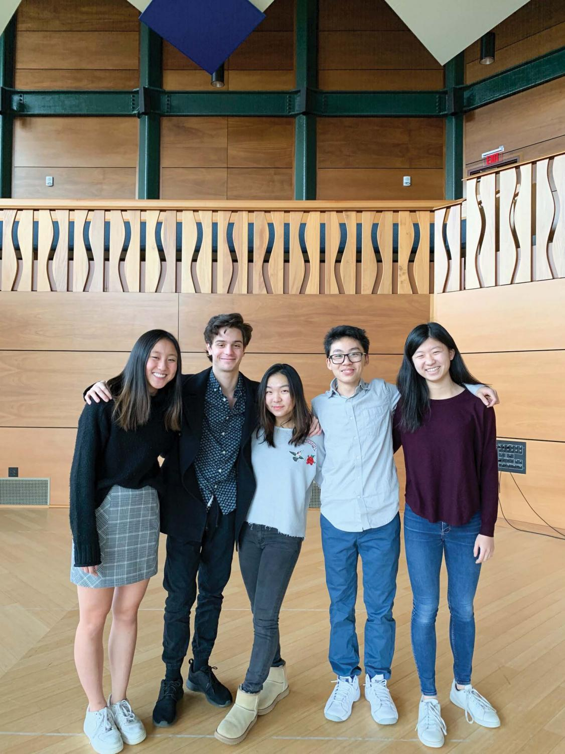 Clara Ma '23, Noam Ginsparg '22, Angela Choi '21, Ricky Shi '22, and Victoria Chen '21 won major prizes in their divisions.