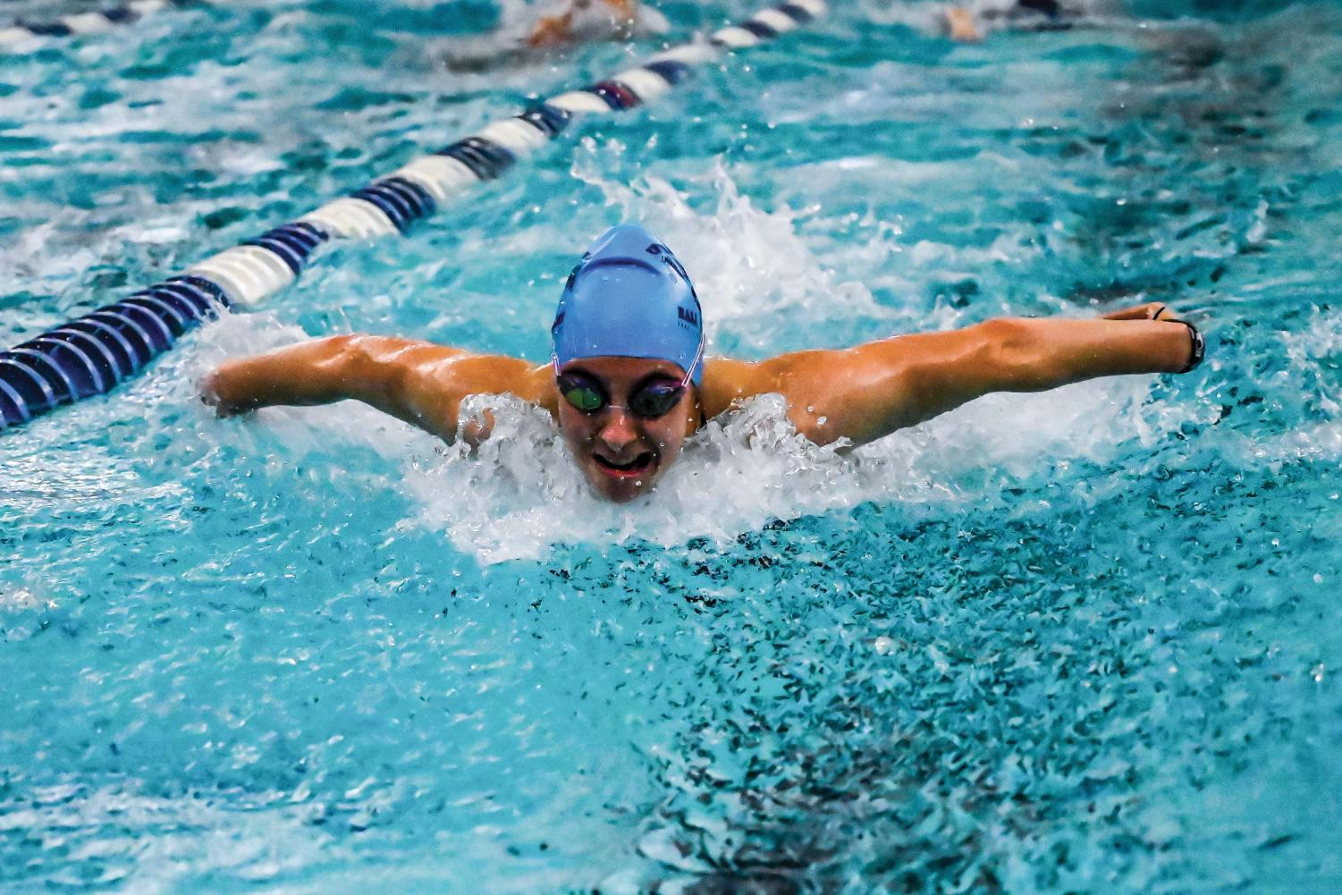Throughout her four years on the team, Jillian Cudney '20 has consistently been a top swimmer.