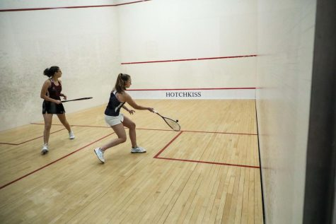 Maggie Ottenbreit '20, a new member of the JV Squash team, is seeded first on the team.