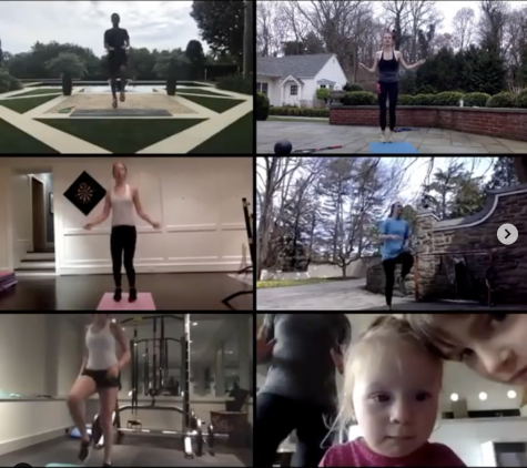 The Girls Varsity Squash  team has been doing live workouts together over Zoom.