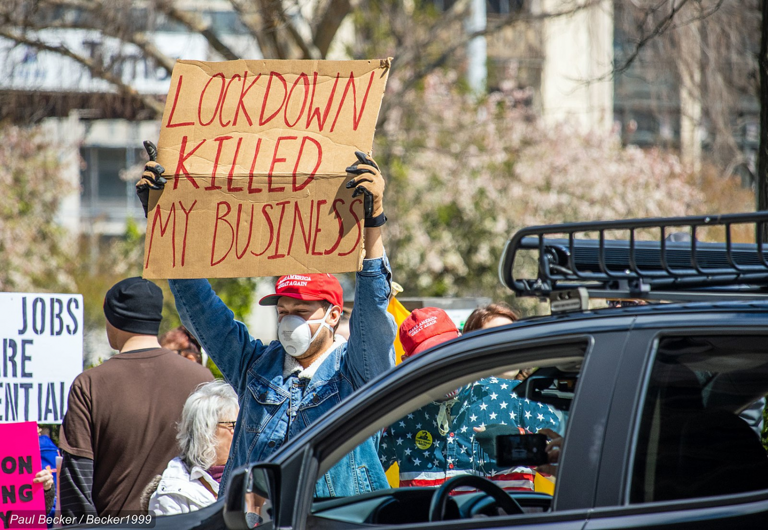 Protests against lockdowns have spread across the nation.