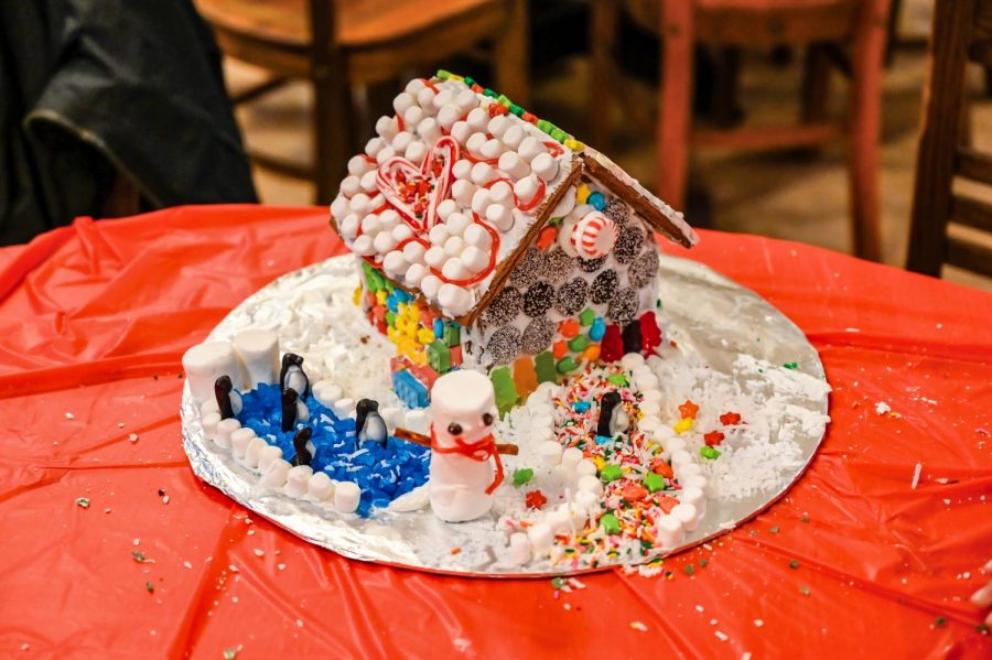 The school usually holds the annual Gingerbread House Build in the Dining Hall. This year, community members decorated their houses over a Zoom call.
