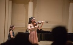 Choi performs in Weill Recital Hall at Carnegie Hall.