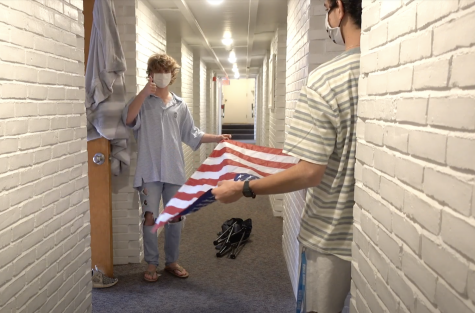 Blaise Fleury '21 & Peter Kallos '22 filmed a video outlining rules for student visitation.