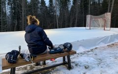 Bullock and her family built an ice rink in her backyard so she could practice hockey.