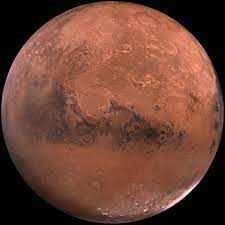 The red planet, Mars.