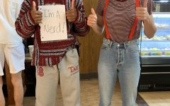 Students  pose on Dress-Like-a-Taftie Day.