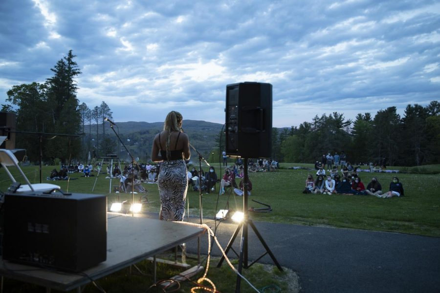 Ella Anthony '21 performs in front of the crowd